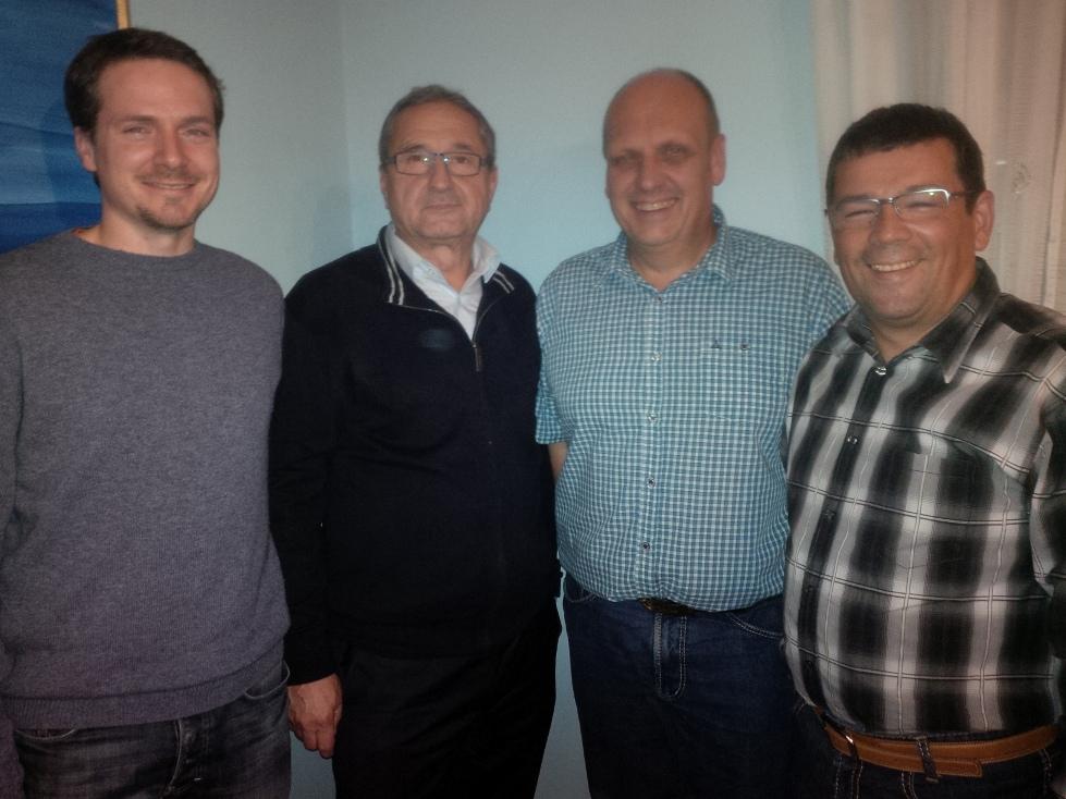 von links: A. Steffes, A. Walter, A. Reichart, A. Steitz